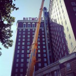 Biltmore Repaired by an AstroCrane