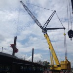 Learn how cranes are erected.