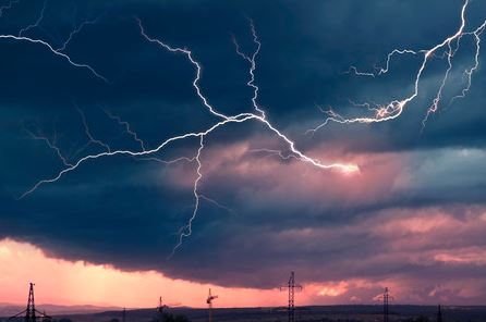 Thunderstorms Near Construction Crane Sites